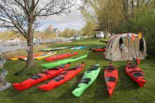 Testpaddeln Paddelcenter Rostock beim Rostocker Kanu-Club